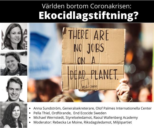 Video från webinar: Världen bortom Coronakrisen: Ekocidlagstiftning?
